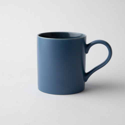GALATEO - Semi-Matt Porcelain Cobalt Blue Mug