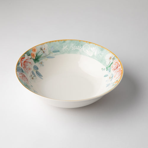 JENNA CLIFFORD - Green Floral Salad Bowl
