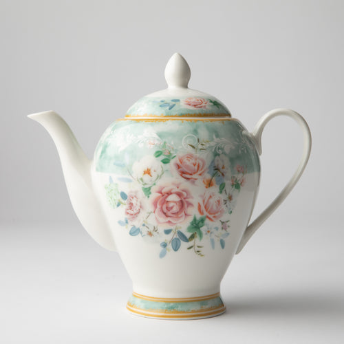 JENNA CLIFFORD - Green Floral Teapot