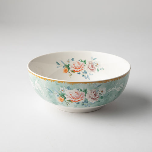 JENNA CLIFFORD - Green Floral Cereal Bowl Set of 4