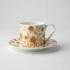 JENNA CLIFFORD - Mica Gold Cappuccino Cup & Saucer Set of 2