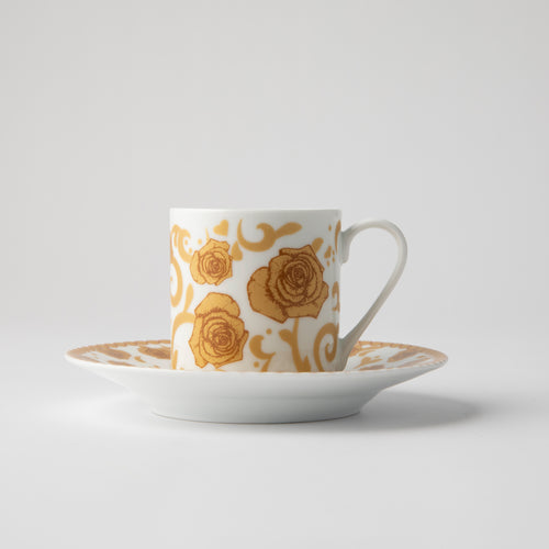 JENNA CLIFFORD - Mica Gold Espresso Cup & Saucer Set of 2
