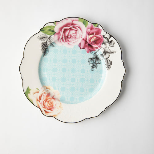 JENNA CLIFFORD - Wavy Rose Dinner Set of 4 + Salad Bowl