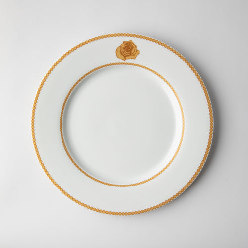 JENNA CLIFFORD - Mica Gold Dinner Set of 4 + Salad Bowl