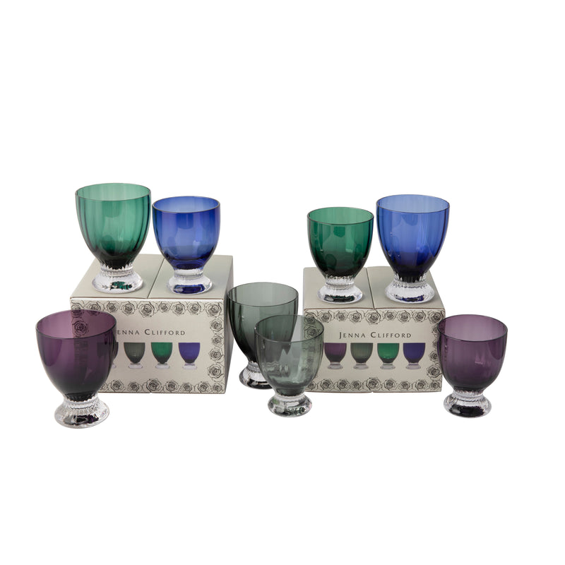 JENNA CLIFFORD - Juice & Water Glasses Blue Set of 8