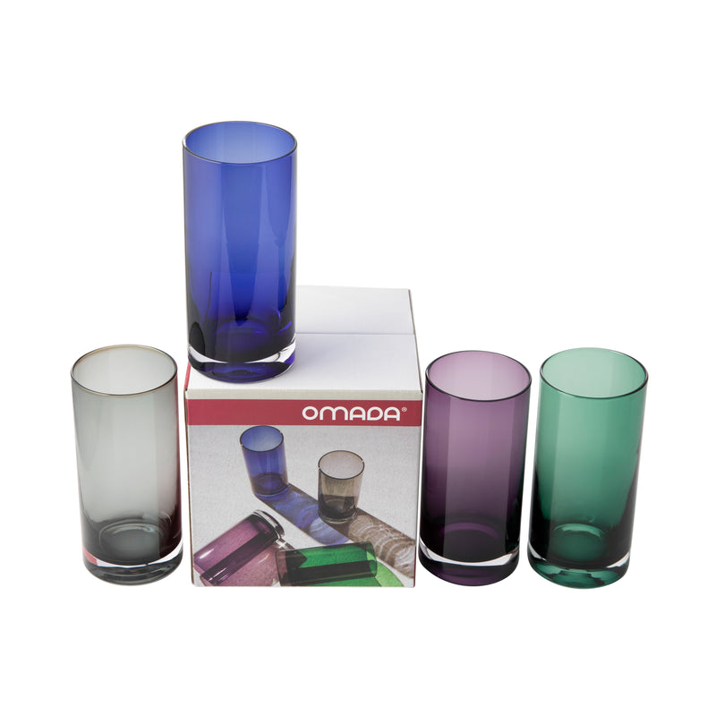OMADA - Smoke Colour Glasses Set of 8