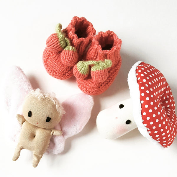 Berry baby slippers 0-4m