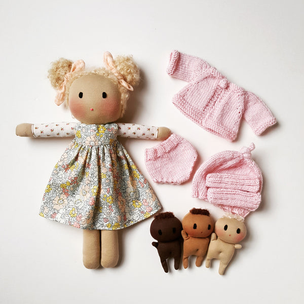 Custom order Doll with clothing set and accessories