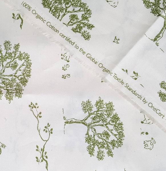 Organic Ducks and Bunnies Bassinet Sheet