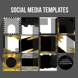 Social media background templates