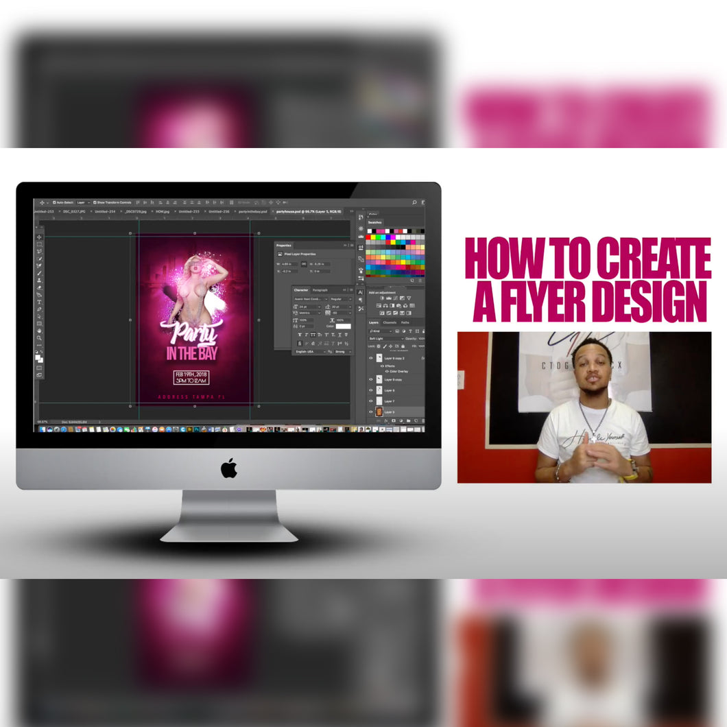 How to create a Flyer design