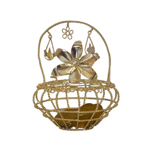 Arrhae Big Basket Round (Gold)