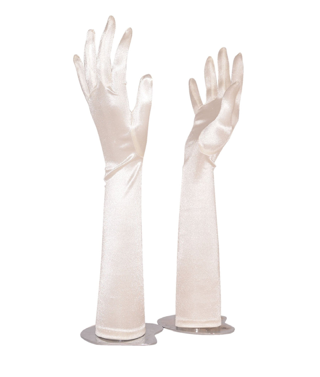 Gloves L Spandex with Fingers Plain (Ecru)