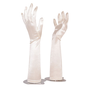 Gloves M Spandex with Fingers Plain (White)