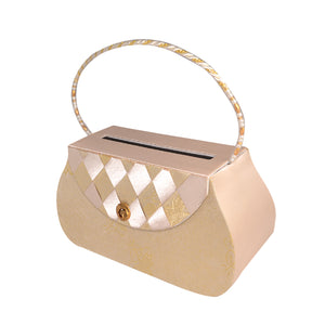 Money Bag05 (Ecru with Gold)