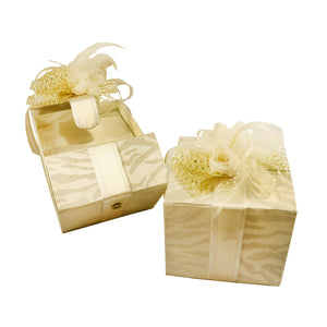 Pillow Set Gift Design (Ecru Gold)
