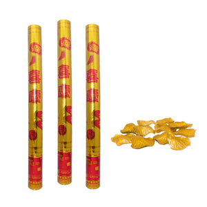 Wedding Poppers with Switch Petals Gold 060cm Set of 3