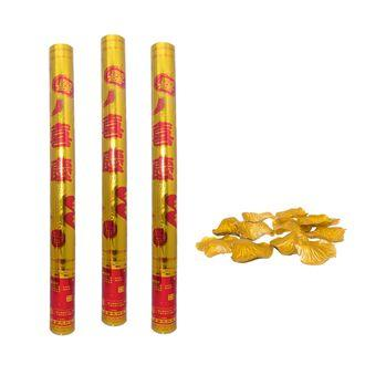 Wedding Poppers with Switch Petals Gold 100cm Set of 3