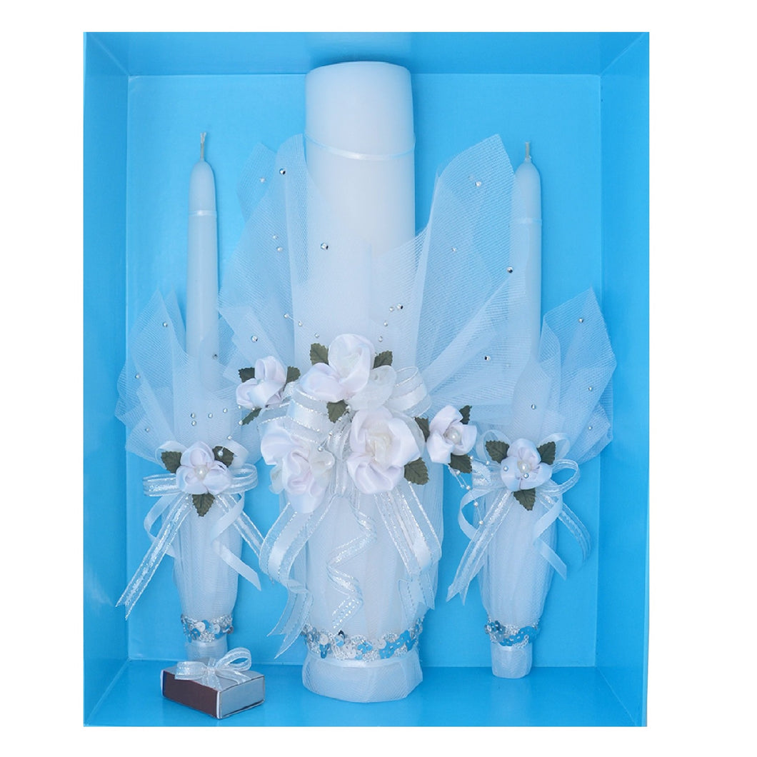 Unity Candle Set Princess (Silver)