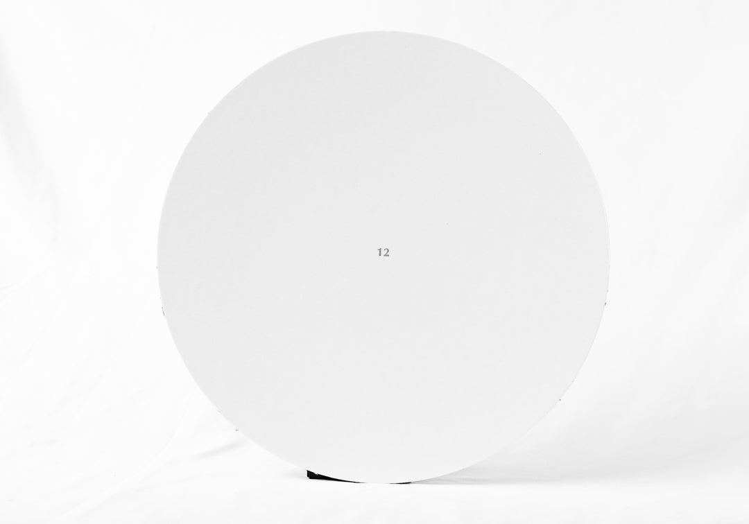 "12"" White Plain Cake Board Round"