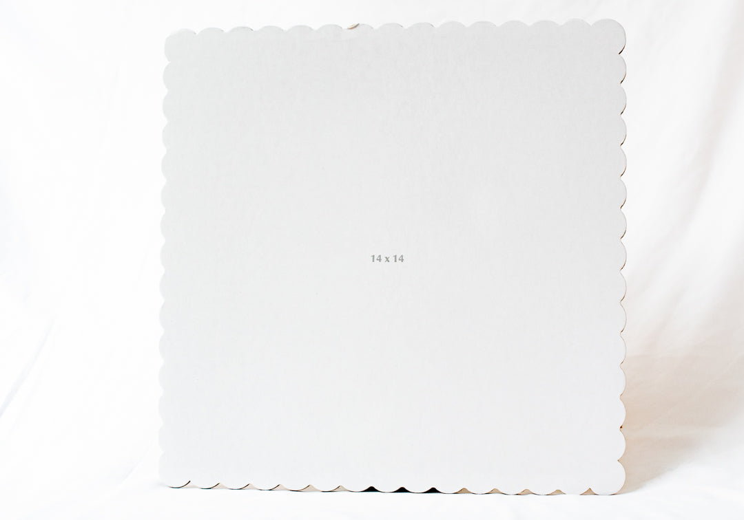 "14""x14"" White Square Cake Board"