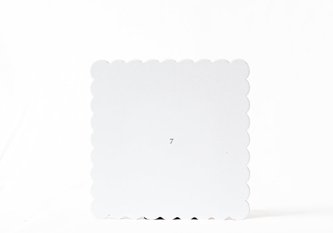 "7""x7"" White Square Cake Board"