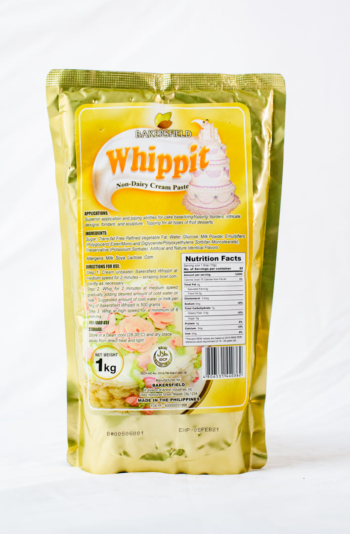 Bakersfield Whippit Nondairy Cream Paste 1kg