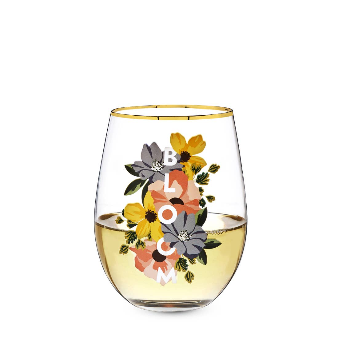 Bloom Stemless Wine Glass