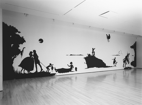 Kara Walker, Gone: An Historical Romance of a Civil War as It Occurred between the Dusky Thighs of One Young Negress and Her Heart, 1994, Cut Paper on Wall