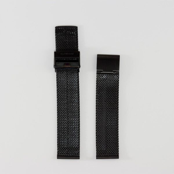 18mm Black Stainless Steel Mesh Band