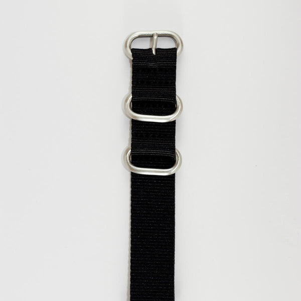 20mm Black NATO band, Nylon