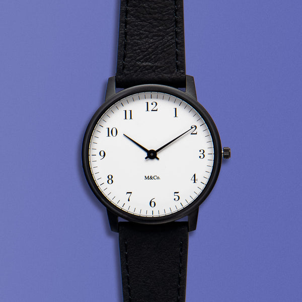 M&Co Bodoni Black with Black Band 40mm