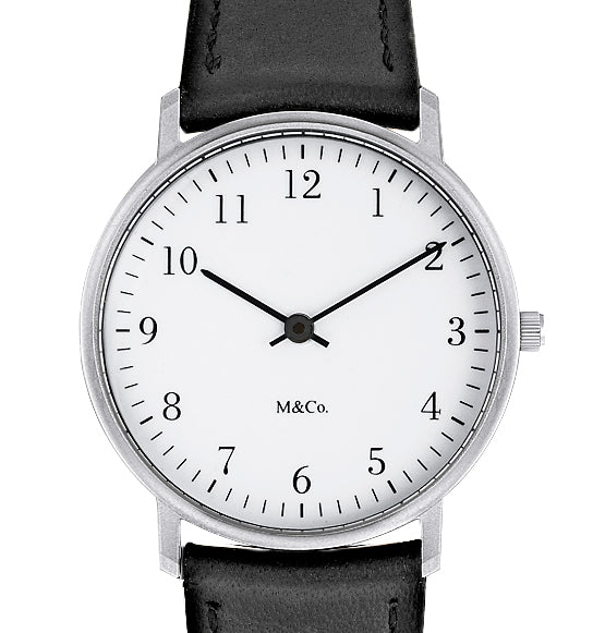 M&Co Bodoni STEEL with BLACK Band 33mm