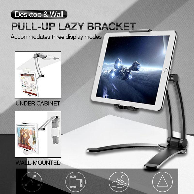 Desktop & Wall Pull-Up Lazy Bracket (Silver or Black)