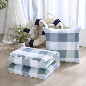 Portable Pillow Travel Quilt