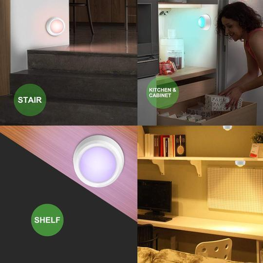 Colour-changing remote-controlled LED wireless-Buy more save more!!