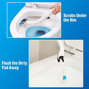 Disposable Toilet Cleaning Brush Set