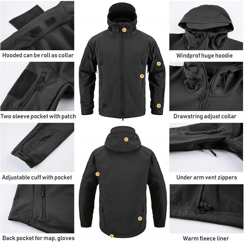 Men's Outdoor Waterproof Military Tactical Jacket