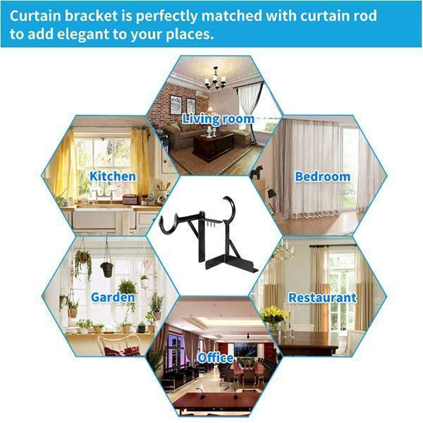 Pair of Curtain Brackets
