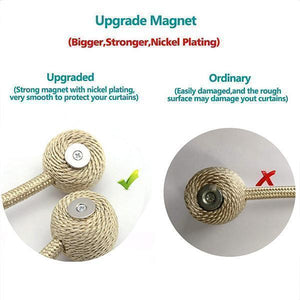 Magnet Buckle Curtain Tieback(1 Pair)