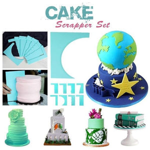 8-Style Cake Scrapers(1 Set)