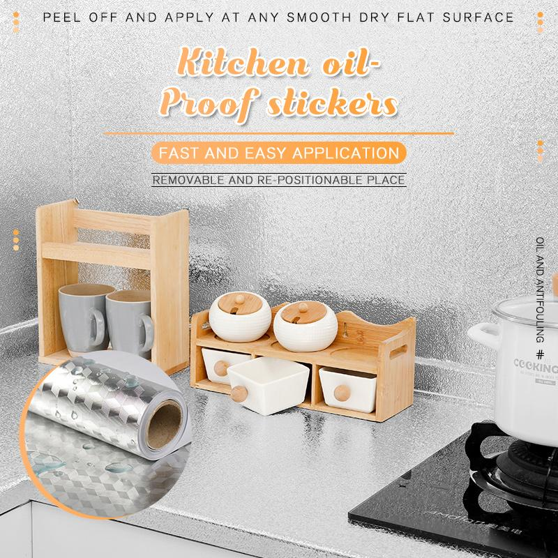 🔥Save 50% OFF🔥Kitchen Oil-proof Stickers-15.7*118INCH