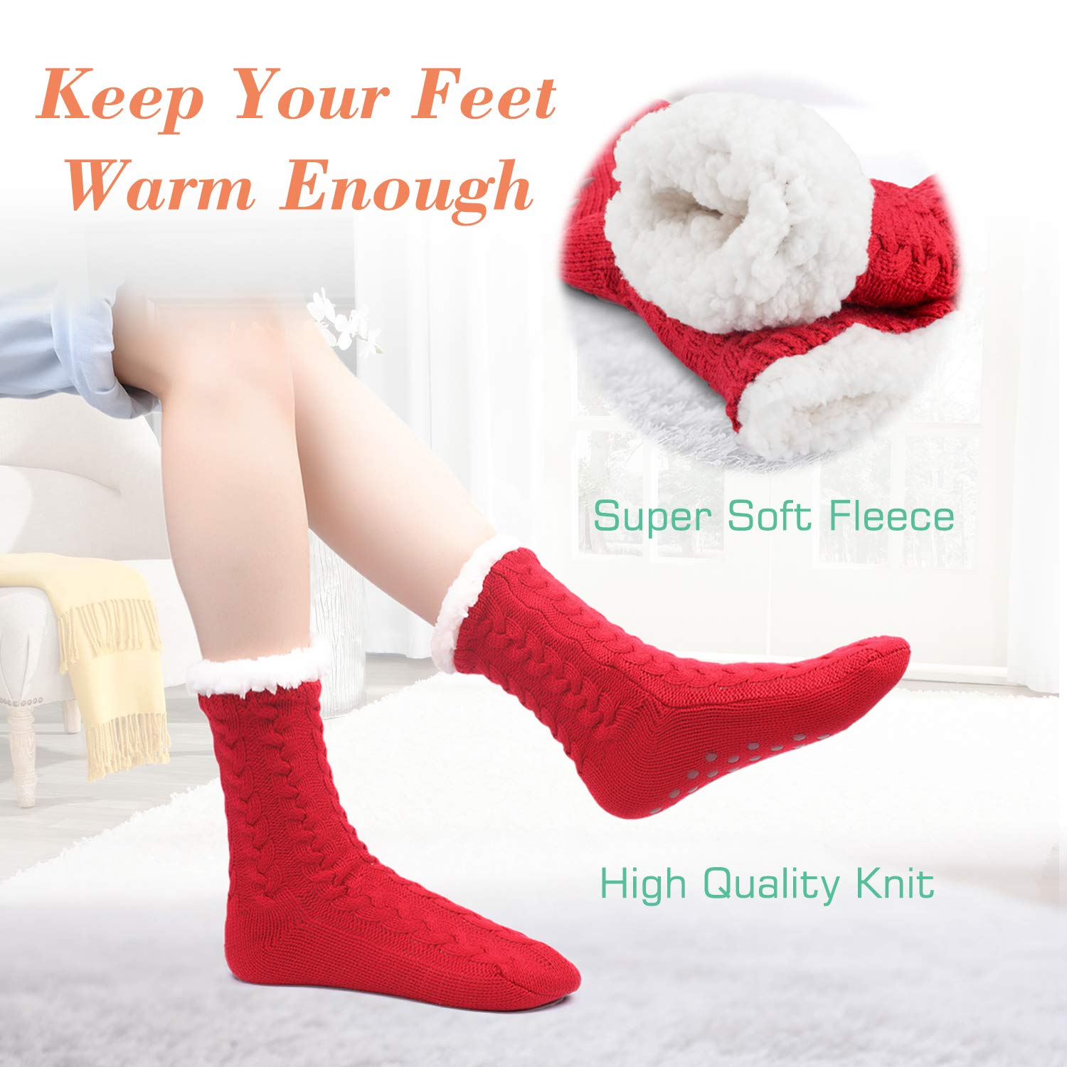 🔥Save 50% OFF🔥Extra-warm Fleece Indoor Socks