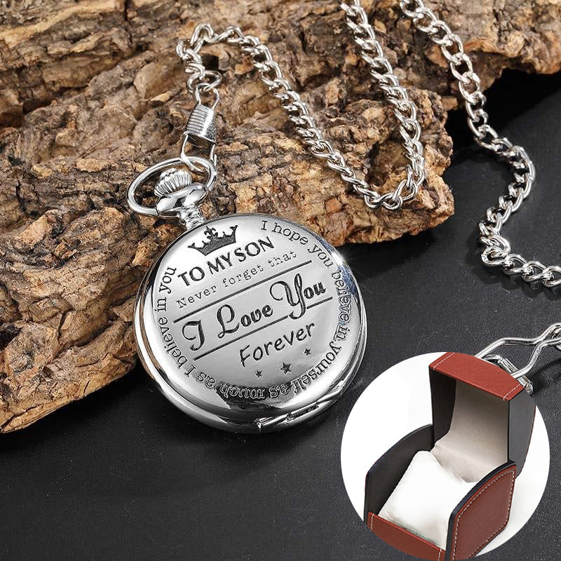 💖To My Son&Husband&Grandpa,Quartz Pocket Chain Watch