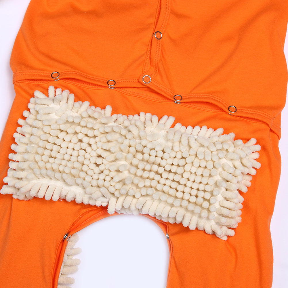 🔥2020 New Gifts🔥Baby Mop Romper Outfit Unisex Floors Cleaning Mop Suit