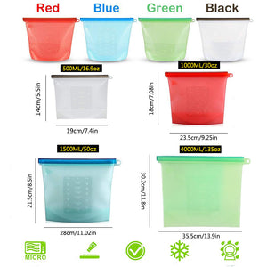 🔥50%OFF Today🔥Reusable Silicone Food Storage Bags