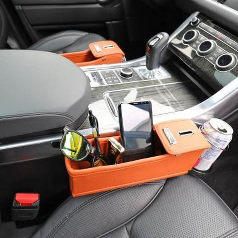 Car Seat Storage Pocket With Cupholders