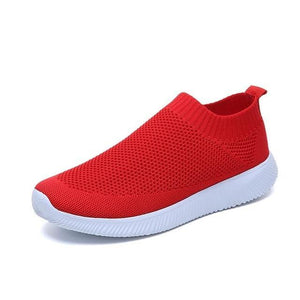 Women's Walking Tennis Shoes - Lightweight Athletic Casual Gym Slip on Sneakers