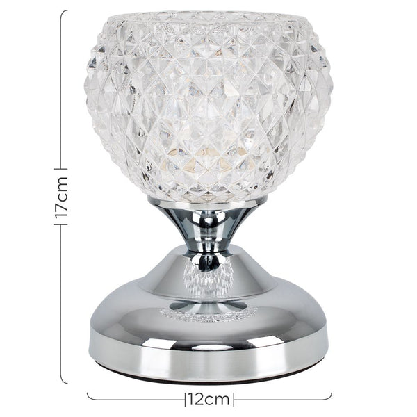 MINI G9 TOUCH TABLE LAMP CHROME