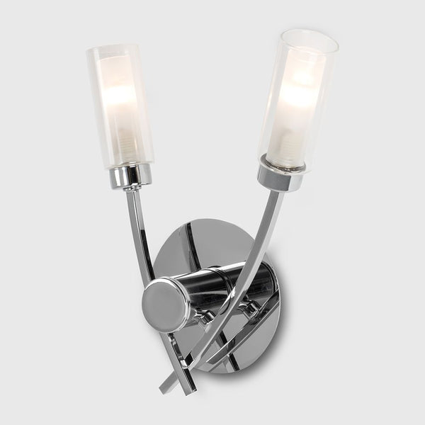 CLAUDIA 2 WAY WALL LIGHT CHROME